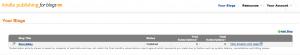 Amazon Kindle Publishing Dashboard Screenshot