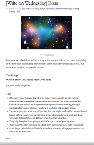 Writing Prompt screenshot