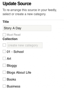 Feedly collections